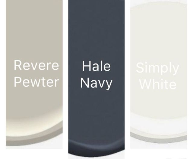 Hale navy and revere pewter
