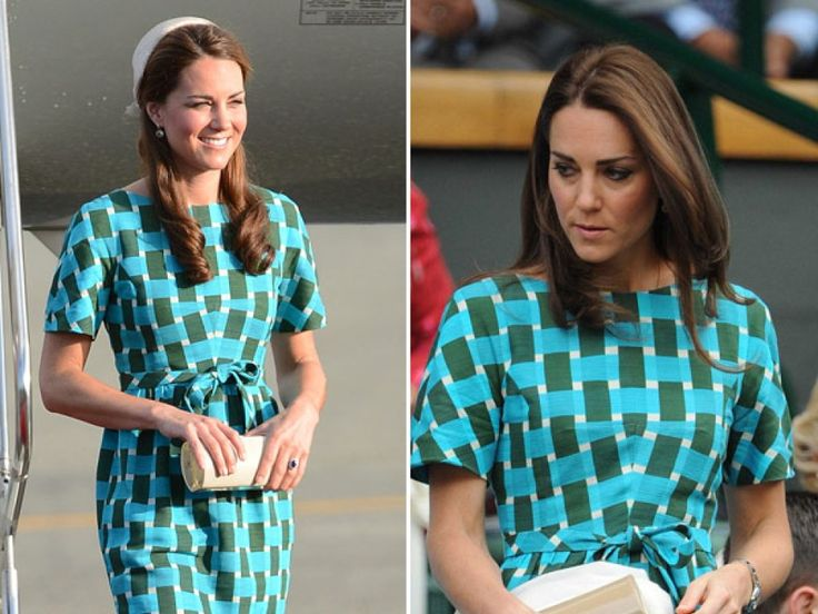 Kate Middleton Recycles Printed Dress For Wimbledon Men's Singles Final