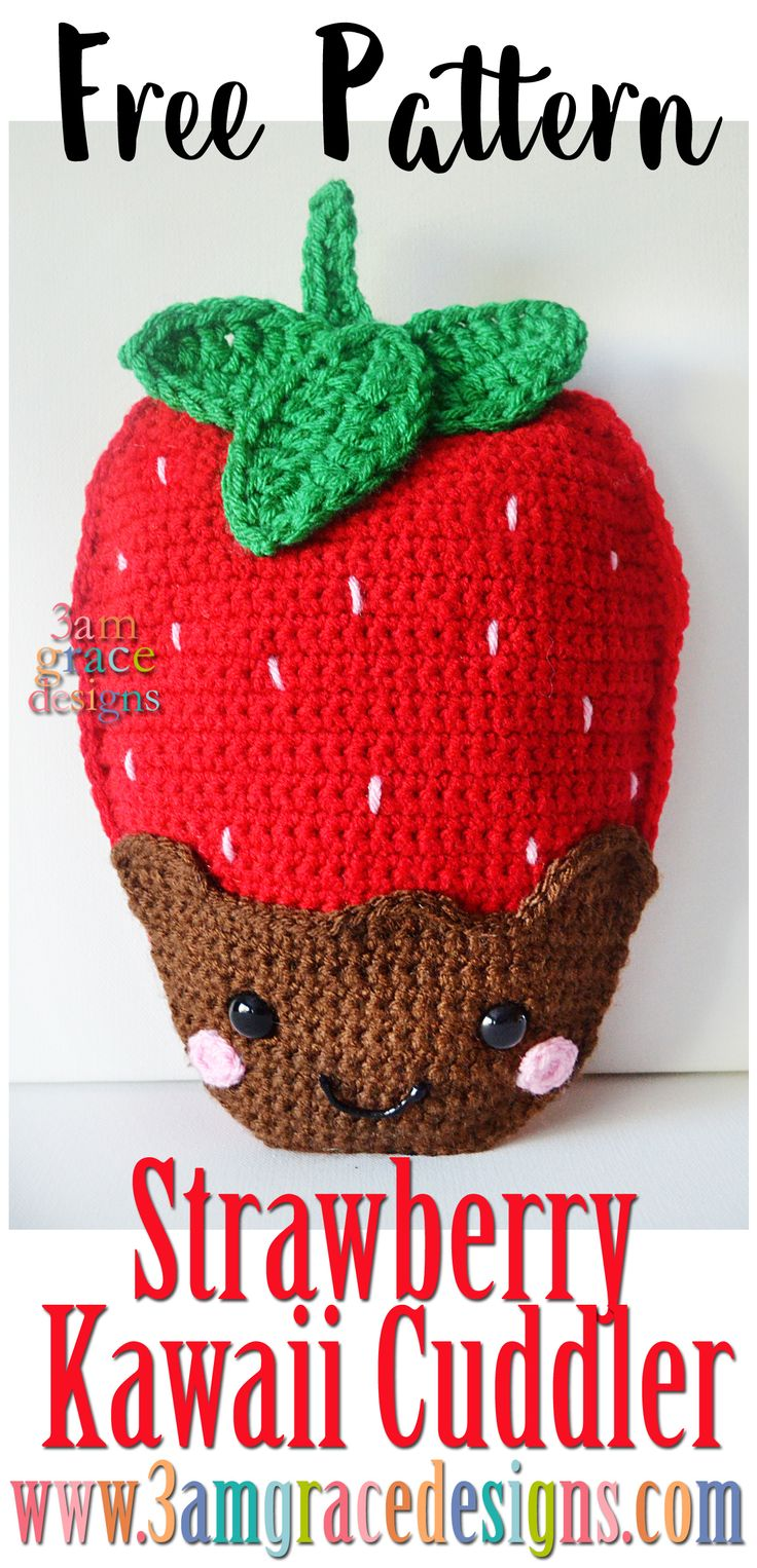 Chocolocate covered dipper strawberry free crochet pattern amigurumi rag doll ragdoll