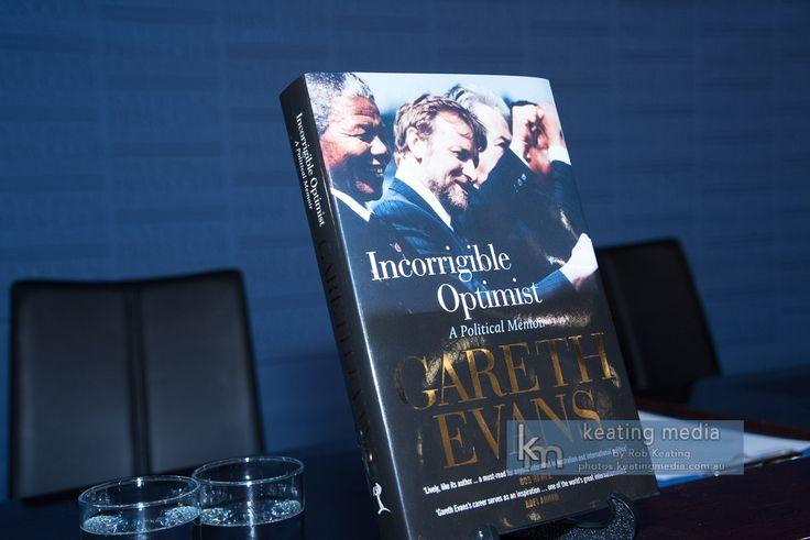 "Gareth Evans' book ""Incorrigible Optimist: A Political Memoir"", launched at the National Press Club of Australia by Bob Hawke."