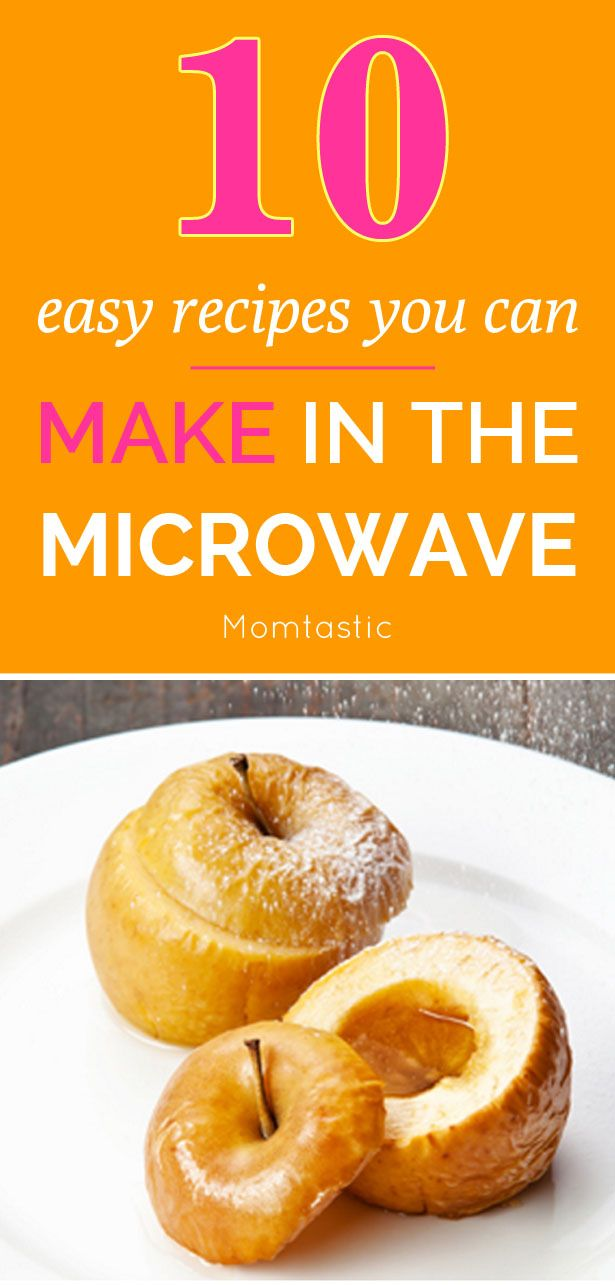 10 easy recipes you can make in the microwave!