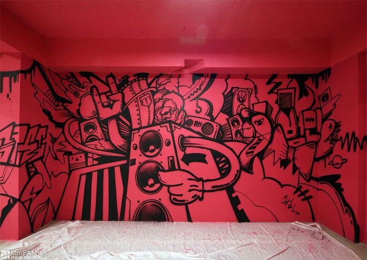 artist : BFMIN범민  HYUNDAI CARD graffiti street art www.bfmin.com