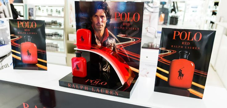 Polo Ralph Lauren Red Launch. Point of purchase in-store display range - designed & manufactured by Kesslers International.