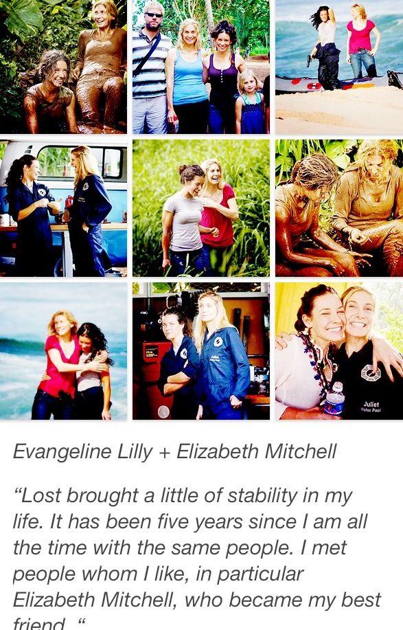 Elizabeth Mitchell and Evangeline Lily were best friends