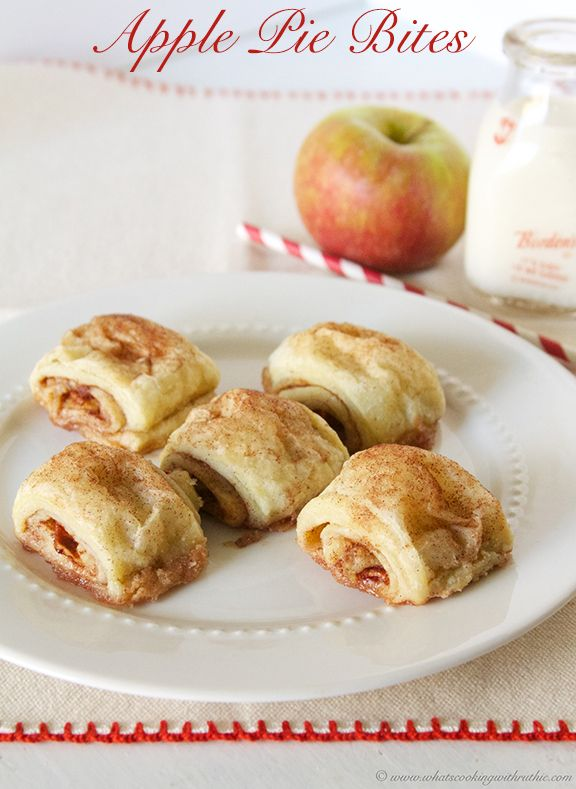 Apple Pie Bites are so simple to make but still have all that apple pie flavor! by www.whatscookingwithruthie.com #recipes #dessert