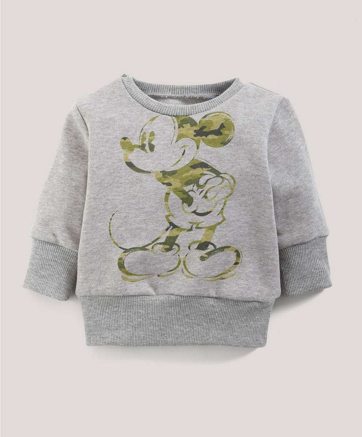 Boys Disney Mickey Mouse Camouflage Jumper - Disney Mickey & Minnie Mouse - Mamas & Papas