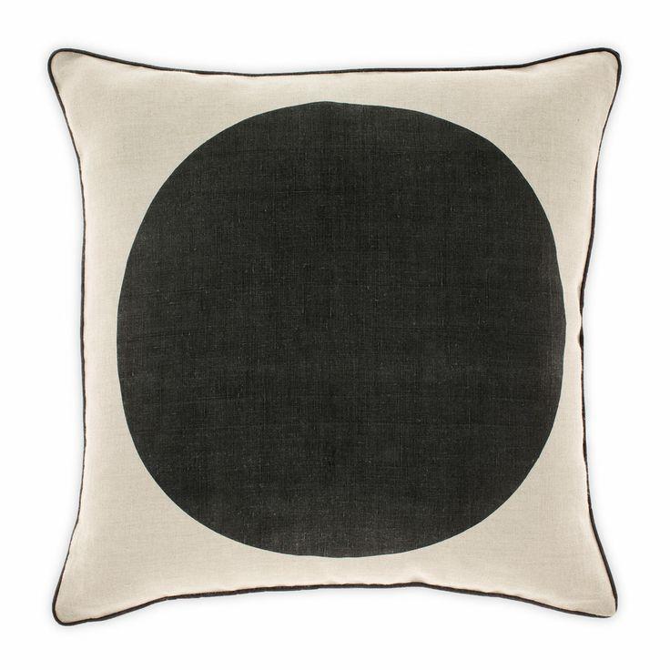 Big Spot Cushion in Black 50cm from Aura Home