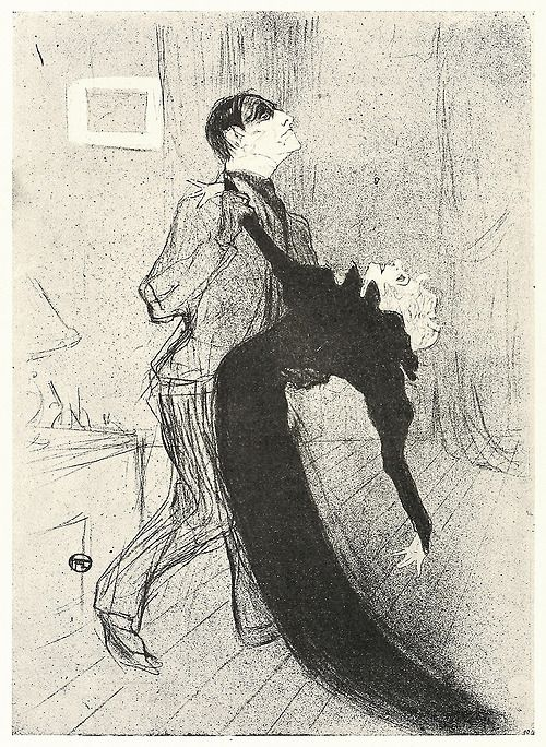 """""""The Fainting"""" - unpublished lithograph by Henri de Toulouse-Lautrec - (Is there such a thing as an 'unpublished HTL?) http://wine-loving-vagabond.tumblr.com/page/17"""
