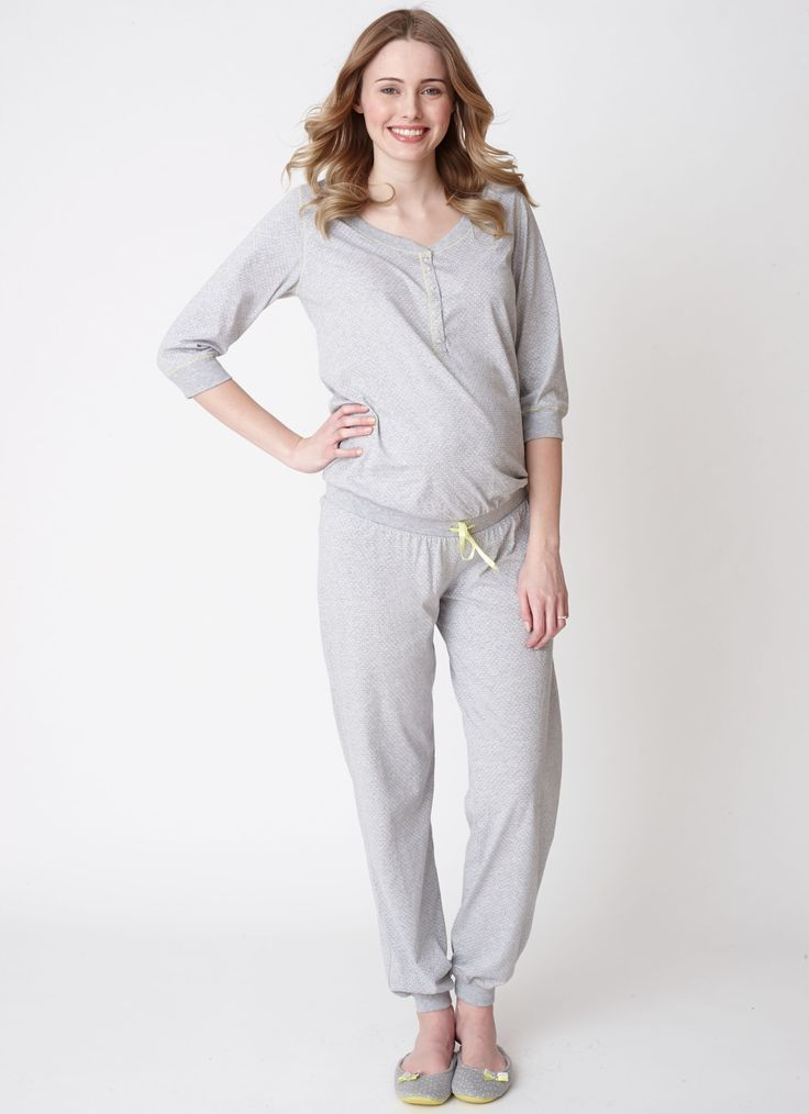 Crystal Grey Maternity Playsuit-Mothercare