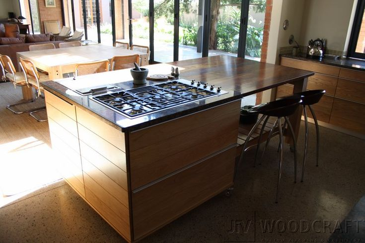 kitchen island with gas hob - Google Search | Cool