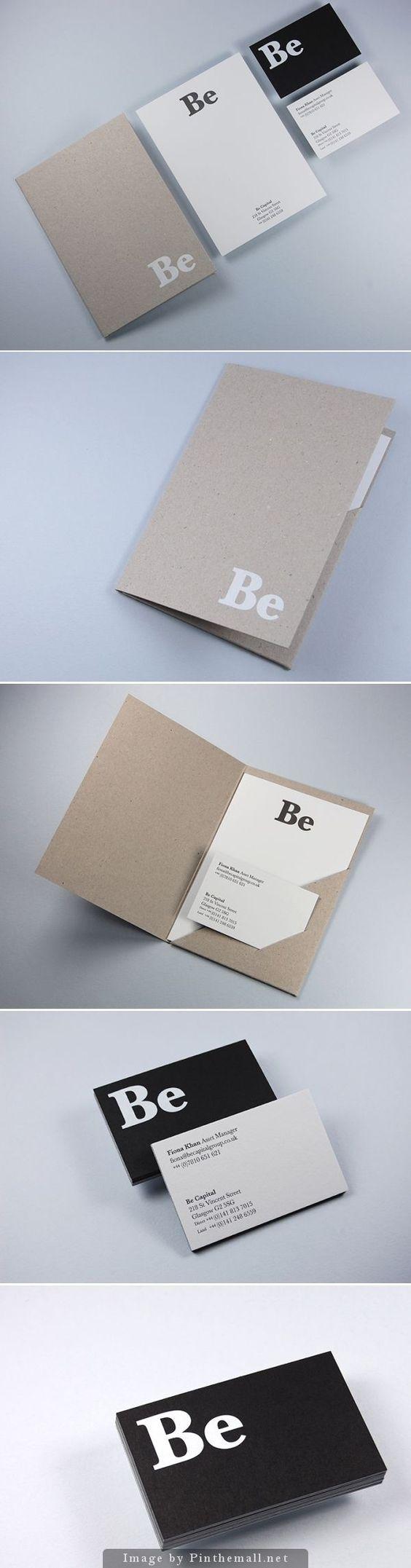 Corporate identity branding business card letterpress notebook minimal craft paper folder flyer graphic design: