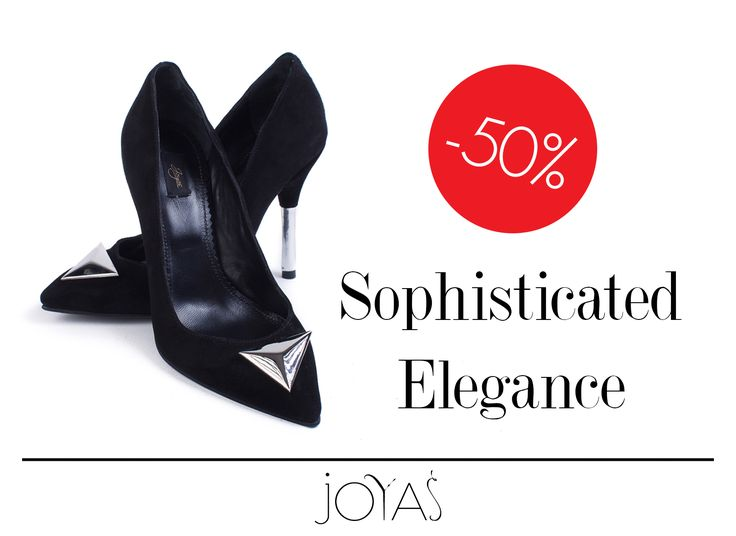 Take advantage of the 50% discount for Annora black stilettos and make your outfit elegant and sophisticated!