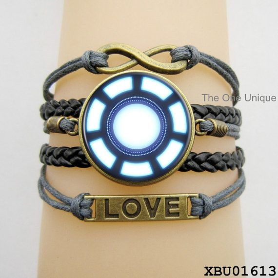 Iron Man bracelet Iron Man jewellery  Ironman door TheOneUnique, $9.50