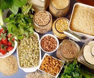 Top 15 des aliments les plus protéinés (hors viande) : spiruline _ soja _ graines de chanvre _ beurre d'arachide _ graines de courge _ haricots japonais Azuki _ fenugrec _ noix _ tempeh _ pois chiches _ graines de chia _ épeautre _ quinoa _ sarrasin _ son d'avoine