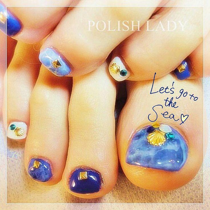 2014年5大トレンド!海が似合う、夏の大人可愛いフットネイル特集♥   SELECTY