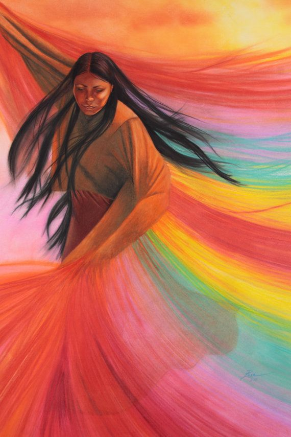And So We Dance Fine art print of a painting of a Native American shawl dancer by RiaFineArts, $12.10 (Beautiful artwork)