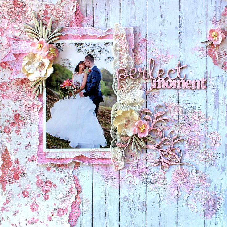 The Dusty Attic DT June Mood Board/Sketch Challenge - chipboard, stencil, romantic, wedding, Maja Design,