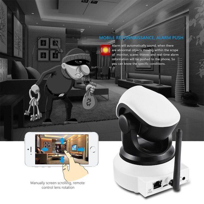 Cámara de Video Vigilancia con Vision nocturna Micrófono y altavoz, Detección de movimiento-sonido, compatible con iOS, Android