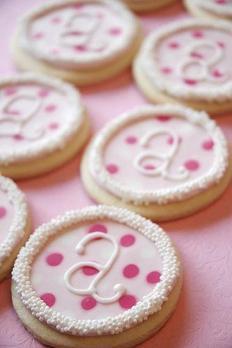 ava's christening cookies