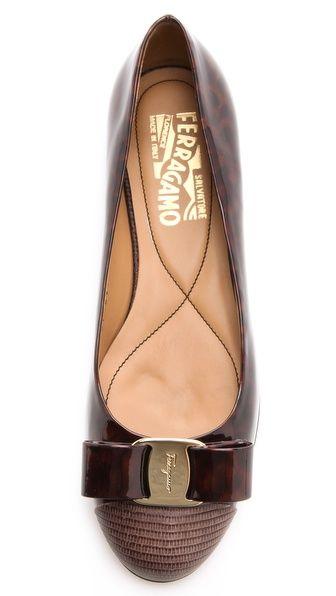Gorgeous Flat~ Salvatore Ferragamo Varina Patent Bow Flats