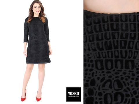 Little black dress, din catifea brocata, rochia LOLA ♡♪ #dress #black #velvet #women #style #yokko