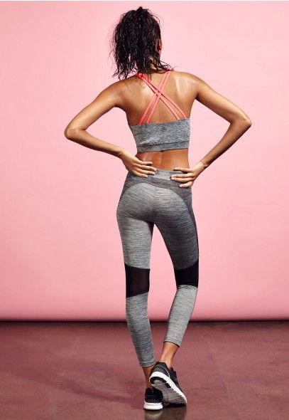 Legging contrastant gris chiné Active - Leggings de sport et pantalons de jogging femme - Missguided Active