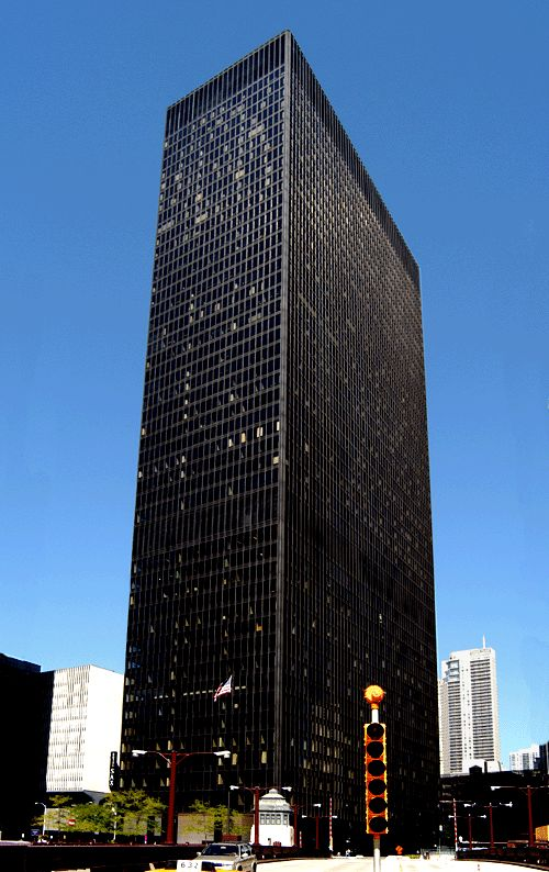 Ibm plaza the machine age ludwig mies van der rohe for Seagram building ppt