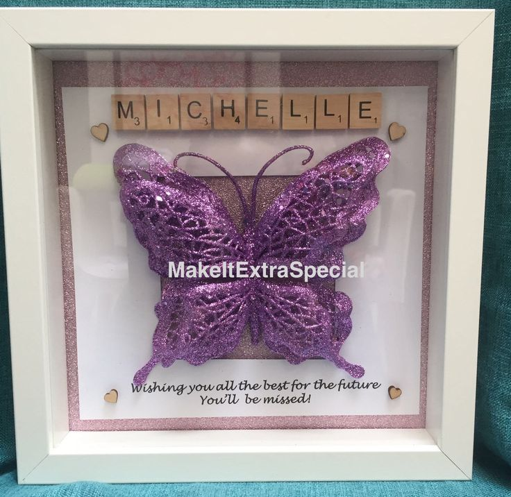 A personal favourite from my Etsy shop https://www.etsy.com/uk/listing/293008869/personalised-butterfly-frame-for-any