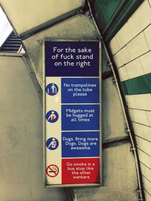 It seems that TfL has taken a 'new' approach to crowd control, pets, smoking and bouncing appendages at Kilburn Park Station. @techinicallyron