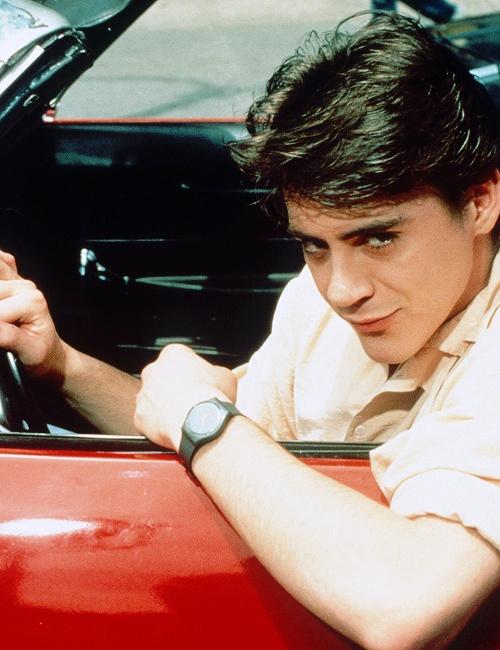 "Young Robert Downey Jr. working it in ""The Pick-Up Artist."" (Repineado de Jen Richardson)"