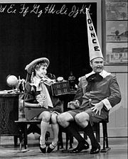 "Jane Powell plays girlfriend to Red Skelton's ""Junior"" on The Red Skelton Show, 1968."