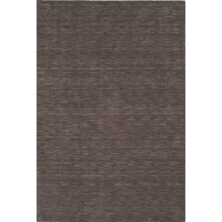 """Tonal Solid 100% Wool Area Rug - Charcoal (Grey) (5'x7'6"""")"""