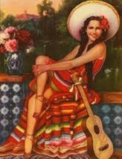 Mexican Calendar Girl Art : Best images about mexican fiesta costume ideas on