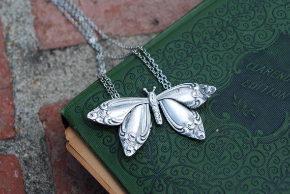 "Spoon Necklace: ""Butterfly"" by Silver Spoon Jewelry"