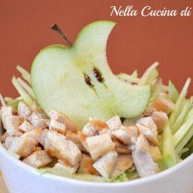 Mac salad, insalata di pollo e mele