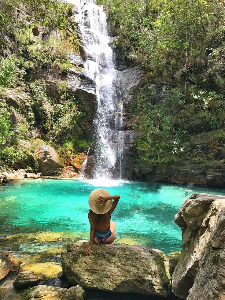 Cachoeira Santa Bárbara, Chapada dos Veadeiros, Goiás