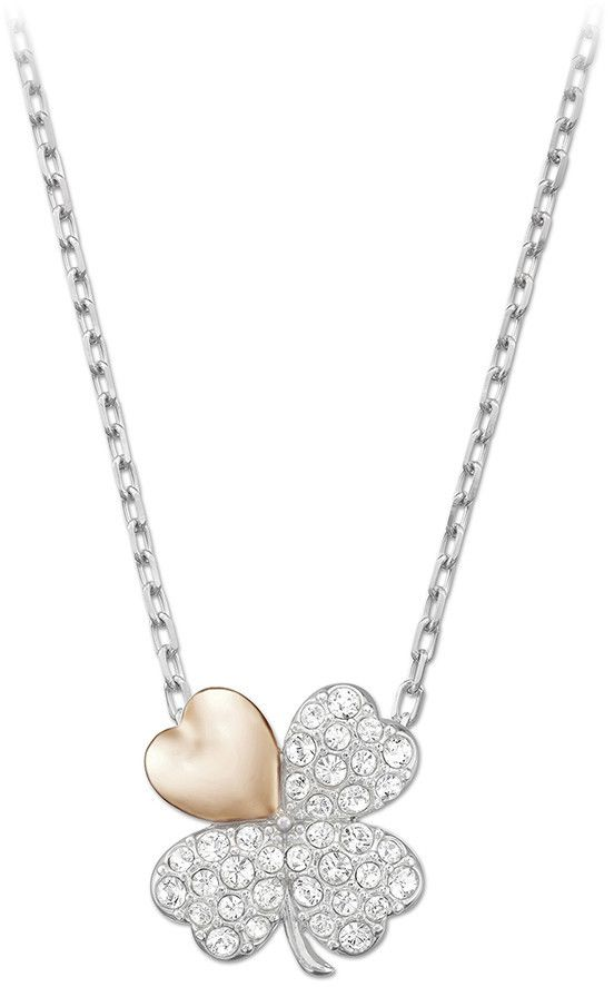 Swarovski Better Clover Necklace, White, Mixed Plating