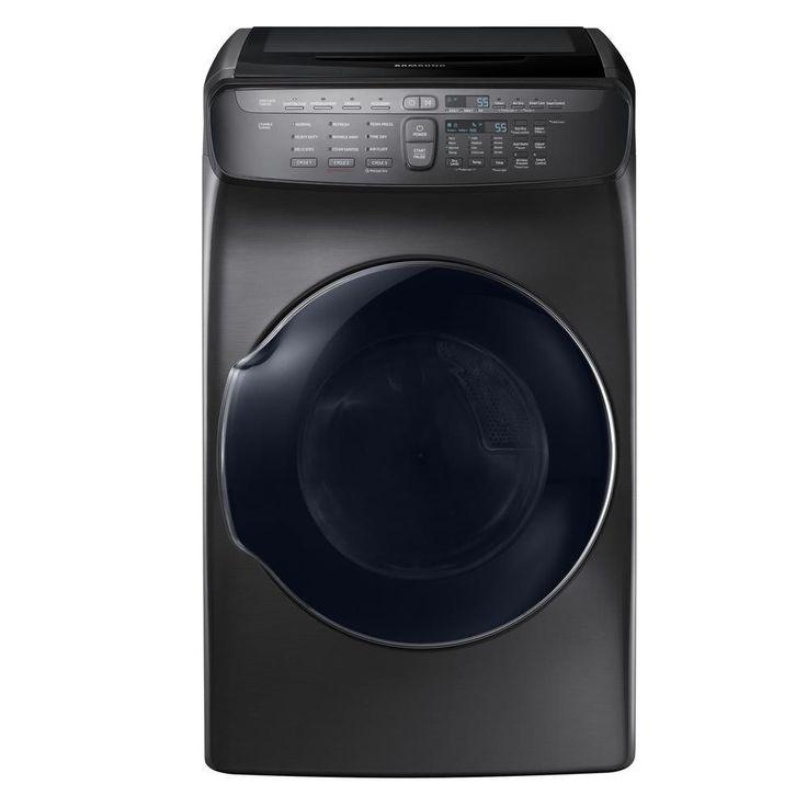 Samsung 7.5 cu. ft. Gas FlexDry Dryer with Steam in Black Stainless Steel, Energy Star