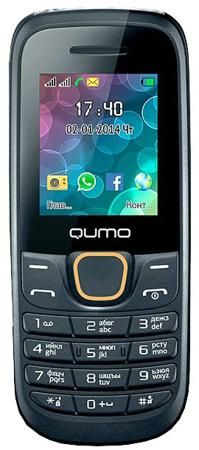 Qumo Push 184 GPRS (черный)  — 990 руб. —  ОТЛИЧНАЯ АВТОНОМНОСТЬ Мобильный телефон Qumo Push 184 GPRS – недорогой удобный девайс, позволяющий использовать наиболее распространенные функции – голосовые звонки, текстовые сообщения, а также мультимедийный плеер. Стандартного аккумулятора достаточно для двух недель работы при умеренном количестве звонков. ХОРОШЕЕ ОСНАЩЕНИЕ Помимо указанных функций, пользователю доступно использование фонарика, CMOS-камеры, а также двух SIM-карт. РАСШИРЕНИЕ…