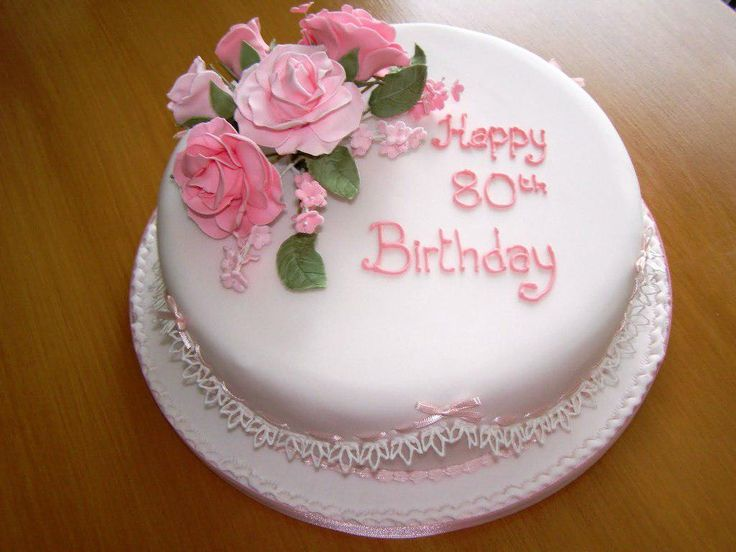 Cake Design For Sister Birthday : 17 best ideas about 80th Birthday Cakes on Pinterest ...