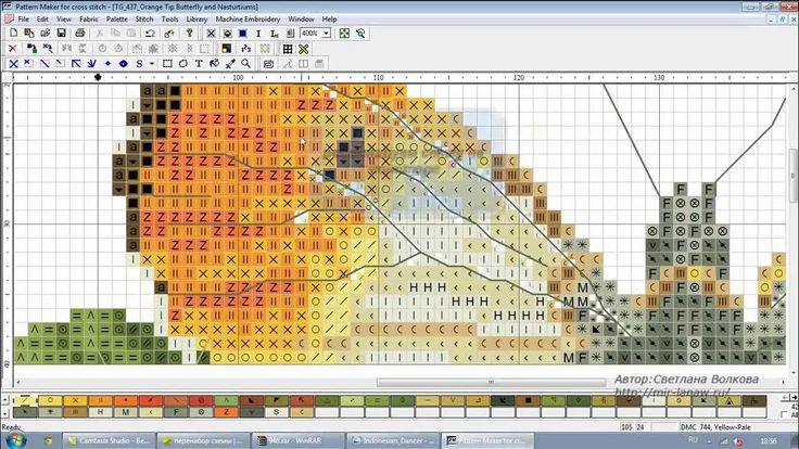 Pattern Maker v4 Pro - вышивка с экрана монитора