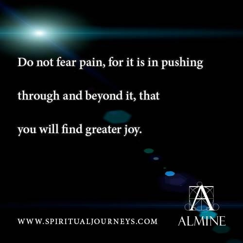 Pushing through pain...