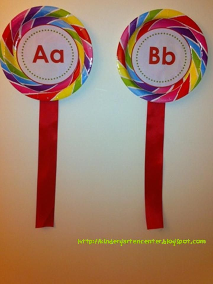 Interactive word wall idea....paper plates with ribbon attached to the bottom to look like lollipops! super cute