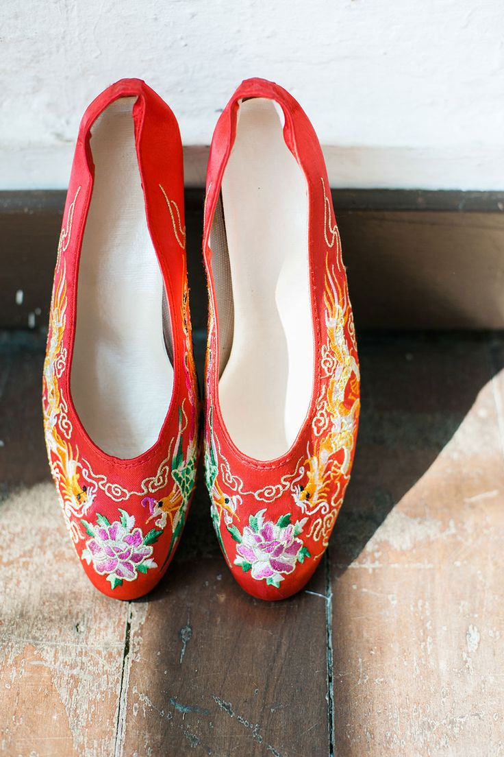 Traditional Chinese embroidered shoes // Beautiful Traditions: A Styled Shoot at Emily Hill