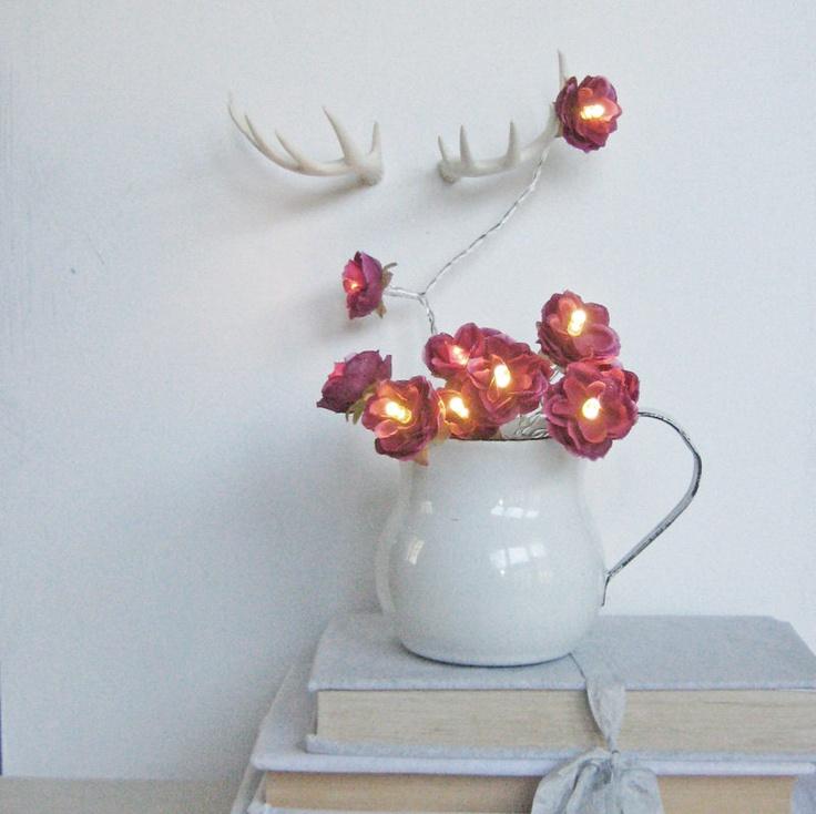 Wild Roses Fairy Lights