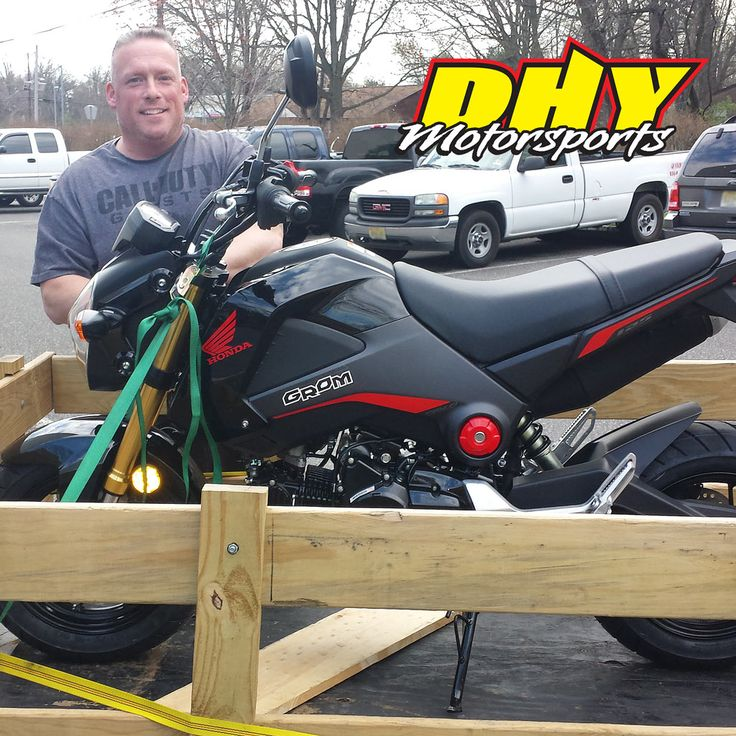 Congratulations to Eric from #SouthHampton #NJ on his purchase of this 2015 #Honda #Grom #125 Enjoy all of the fun and smiles. Thank you for making your purchase at #DHYMotorsports You can help Eric win a $100. DHY Gift Card by clicking 'Like' on this post. #mynewride #dhynj