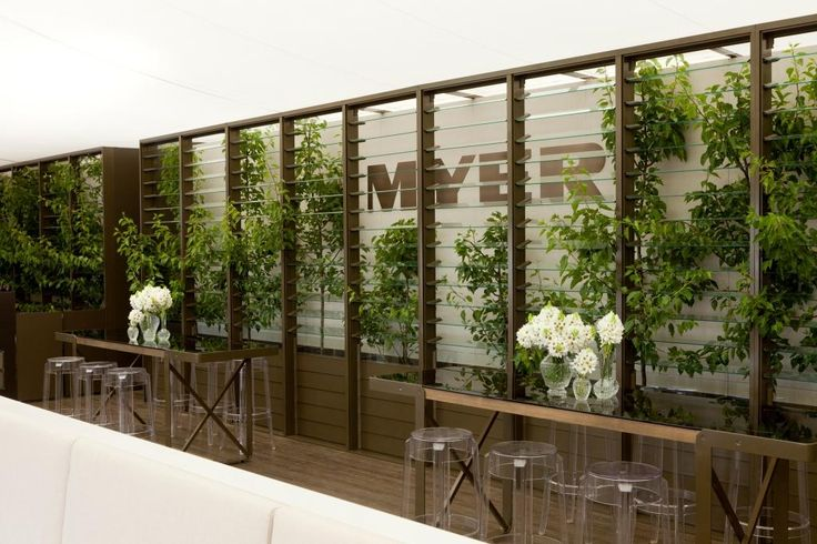 Myer Marquee 2011 Spring Carnival, Flemington, VIC | Breezway Louvre Windows - like the tressle idea