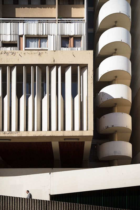 70's architecture in Beaugrenelle area, Paris, photos by sgaze