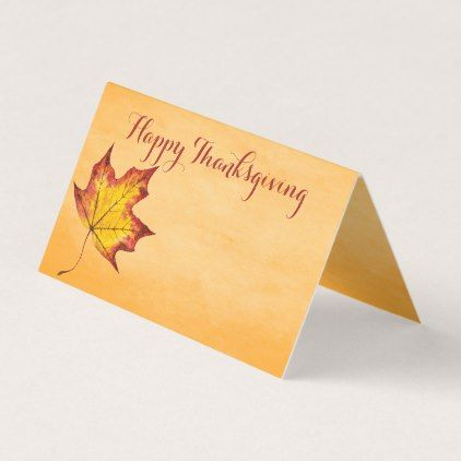 #Happy Thanksgiving Message Fall Leaf Table Seating Place Card - #ThanksgivingDay Thanksgiving Day #Thanksgiving #happy #family #dinners #turkey #chicken