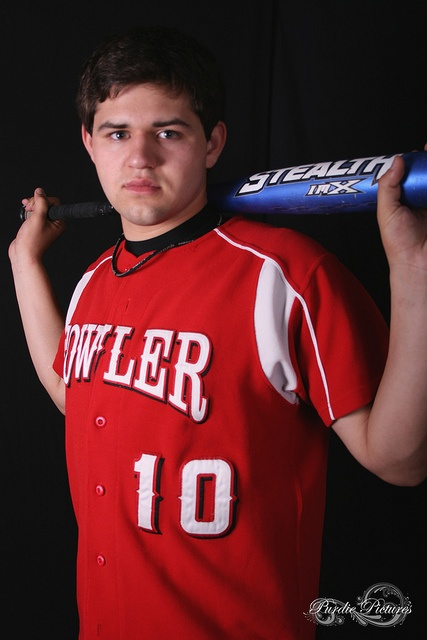 Senior portrait- baseball bat